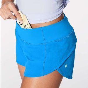 Lululemon Blue Speed Shorts 2.5 in